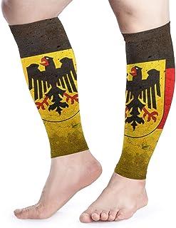 La manga alemana de compresión de pantorrilla con la espinilla alemana de pantorrilla Eagle admite calcetines de compresión de piernas - Hombres Mujeres