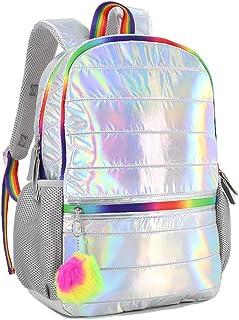 Searock Girls Elementary School Backpack Holographic Lightweight Kids Teen School Bag