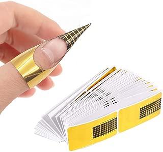 200 PCS Nail Form Guide Stickers, TEOYALL Nail Art Acrylic Nail/UV GEL Extension Tips