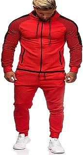 JPDD Men's Slim Fitting Full Zip Stylish Tracksuit Hoodie Joggers Mens Tracksuit Set Jogging Bottoms Long Sleeve Cardigan ...