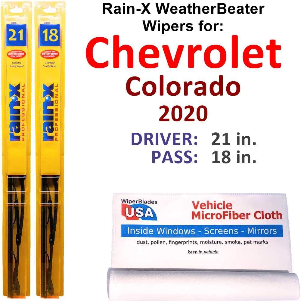 Finally popular brand Rain-X WeatherBeater Wiper New sales Blades for 2020 Chevrolet Se Colorado