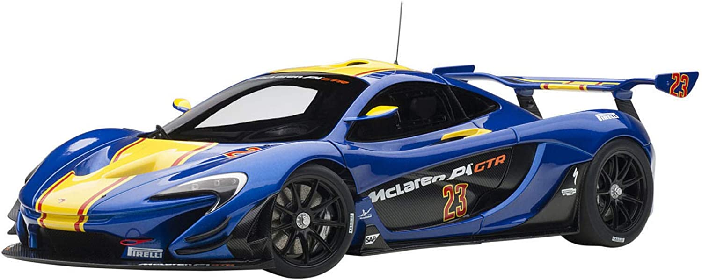 AUTOart 1 18 McLaren P1 GTR bluee   Yellow PVC