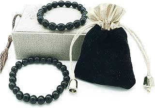 Black Tourmaline Crystal Bracelet for Women and Men Emf Protection Negative Ion Balance Energy Bracelet Set