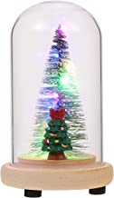 Garneck Globo de Neve Glitterdome Árvore de Natal Brilhante Cúpula Globo de Neve Decorativo Iluminado LED Globo de Neve de...