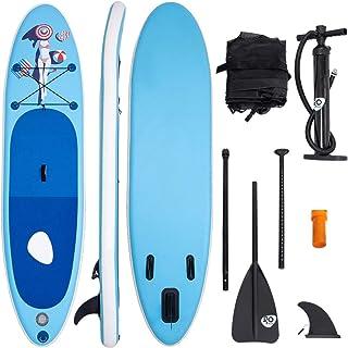 Costway - Tabla de surf hinchable, tabla de remo con soporte, incluye mochila, bomba, kit de reparación, remo de aluminio y aleta central