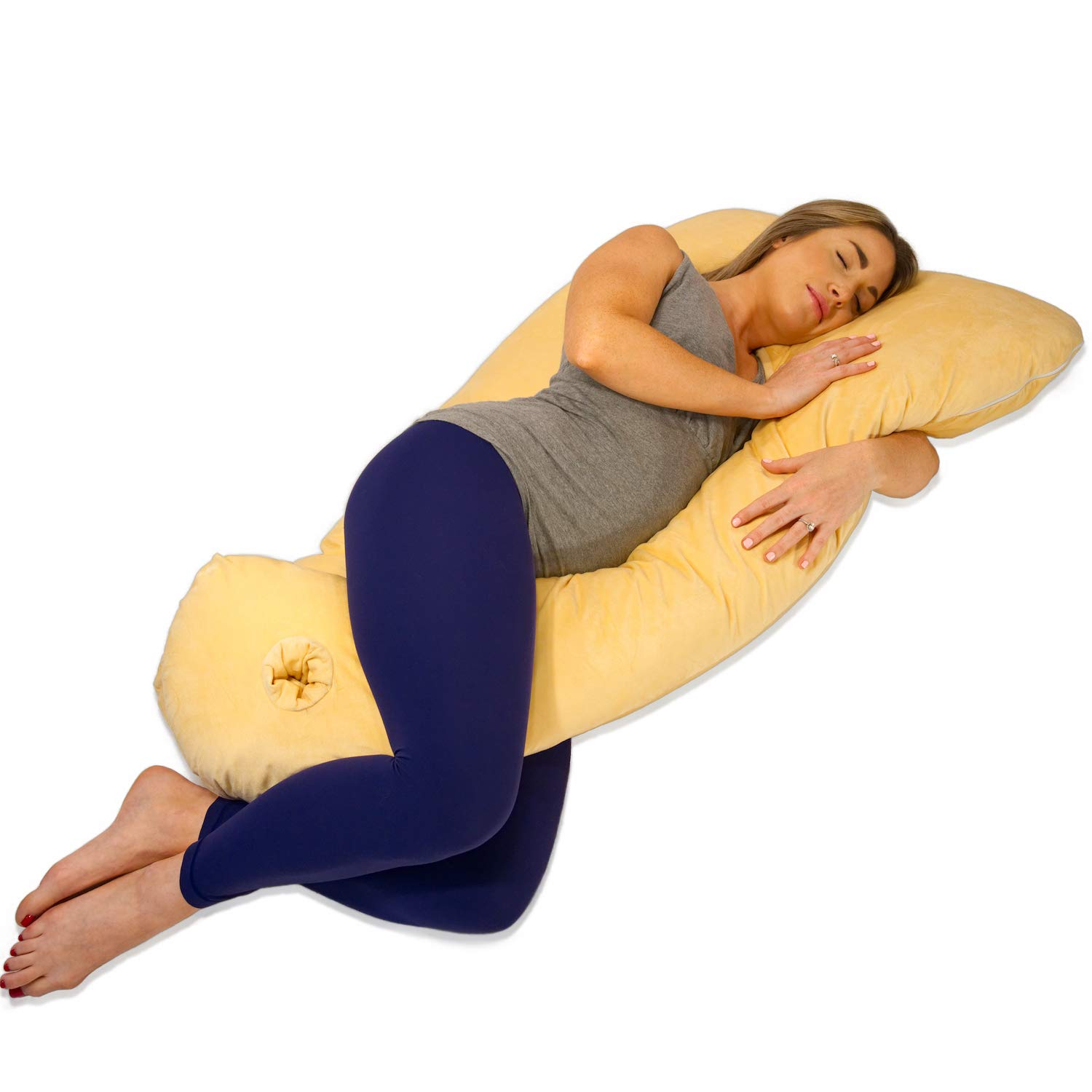 Pregnancy Pillow Maternity U Shaped Cotton Full Body Pillow Sleeping Support