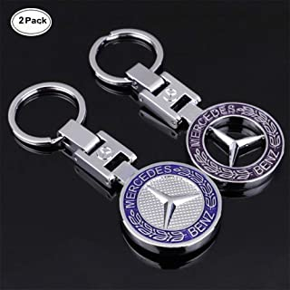 Sindapai 2PACK 3D Mercedes Benz Keychain Accessories Car Key Chain Metal Emblem Pendant Gift for Drivers