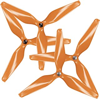 MAS 3-Blade Upgrade Propellers for 3DR Solo with Built-in Nut in Orange - x4 in Set