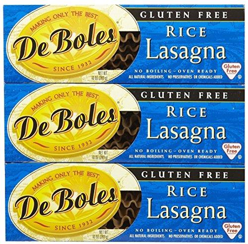 De Boles No Boil Rice Lasagna 10oz (3 Pack)