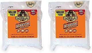 Gorilla Hot Glue Sticks, Full Size, 4