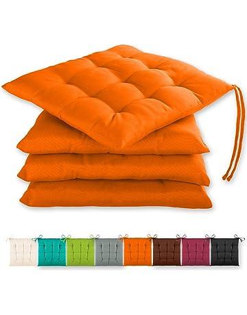OLI Cuscino per Sedia Rotondo Stile Semplice Cuscino per Sedia da Giardino per Interni Cuscino per sedute da Giardino Cuscino per Pavimento da Pranzo da Cucina con Lacci 38x38cm