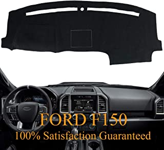 Yiz Dash Cover Dashboard Cover Pad Mat Custom Fit for Ford F150 2015 2016 2017 2018 (15-18 Black) Y37