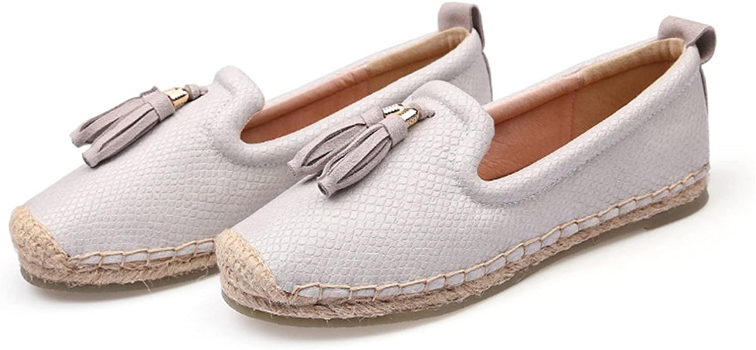 Edv0d2v266 Women Casual Flat shoes Round Toe Loafers Fisherman Espadrilles Woman Slip On Ladies shoes