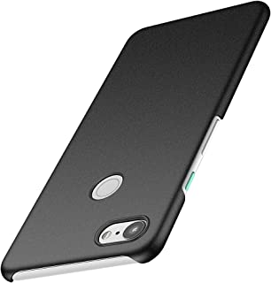 ORNARTO Pixel 3 XL Case for Google Pixel 3 XL,Thin Fit Shell Premium Hard Plastic Matte Finish Non Slip Full Protective Anti-Scratch Cover Cases for Google Pixel 3 XL(2018) 6.71' Frosted Black