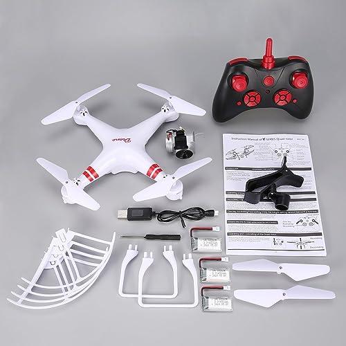 GreatWall KY101 RC Drohne Weißinkel 720P Kamera H  halten Headless-Modus Quadcopter WeißMit 3 Batterien