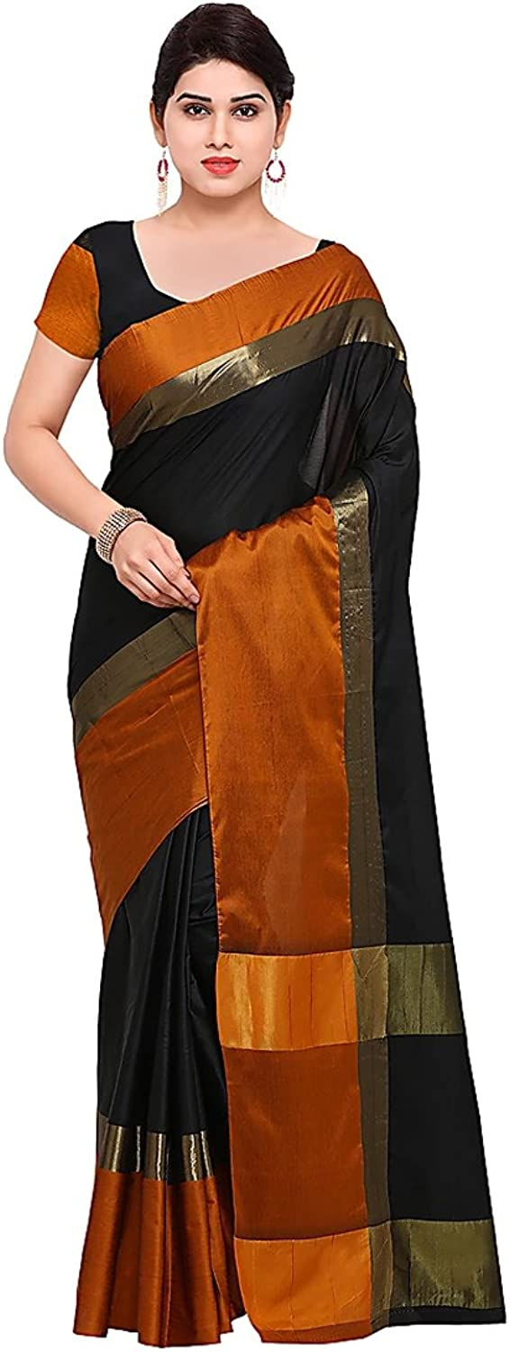 Craftsvilla Silk Saree with Blouse Piece (MCRAF60726061290_Multicolor_Free Size)