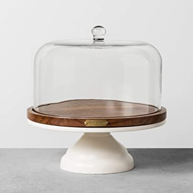 Covered Cakestand - Hearth & Hand with Magnolia (Sour Cream/Wood)