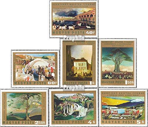 Prophila Collection Ungheria 2878A-2884A (Completa Edizione) 1973 Dipinti di T. C. Kosztka (Francobolli per i Collezionisti) Pittura