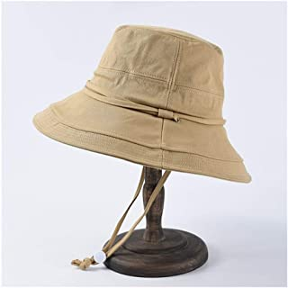 ZiWen Lu Daxie Visor Female Summer Cloth Cap Casual Wild Fisherman hat Outdoor Sun Protection Windproof Cycling hat (Color : Beige)