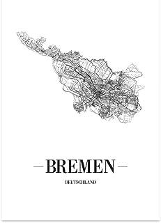 JUNIWORDS Stadtposter - Wähle Deine Stadt - Bremen - 21 x 3