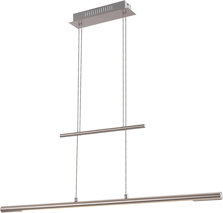 Praktische LED Hngeleuchte nickel matt Acryl satiniert 24W Globo SICILIA 58094Z