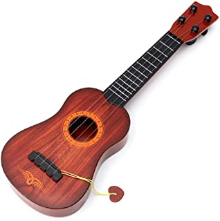 MWT TOYZ 4-String Acoustic Guitar Learning Toy for Kids (Brown, 23-inch)