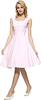 50s 60s Vintage Swing Picnic Party Casual Cocktail Dress