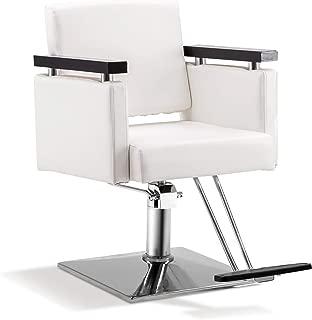 BarberPub Classic Hydraulic Barber Chair Salon Beauty Spa Styling Salon Equipment 8803 (White)