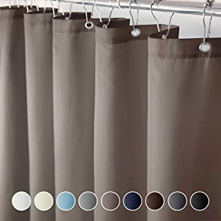 Eforcurtain Small Size 36 x 72 Inches Waterproof Cloth Shower Curtain Easy Care for Boys Stand Alone, Classic Simple Brown Color Bath Curtains
