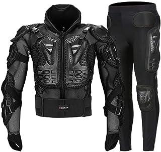 SHOULIEER Moto Armure complète du Corps Hommes été Respirant Moto Veste Costume motobiker Motocross Armure équipement de P...