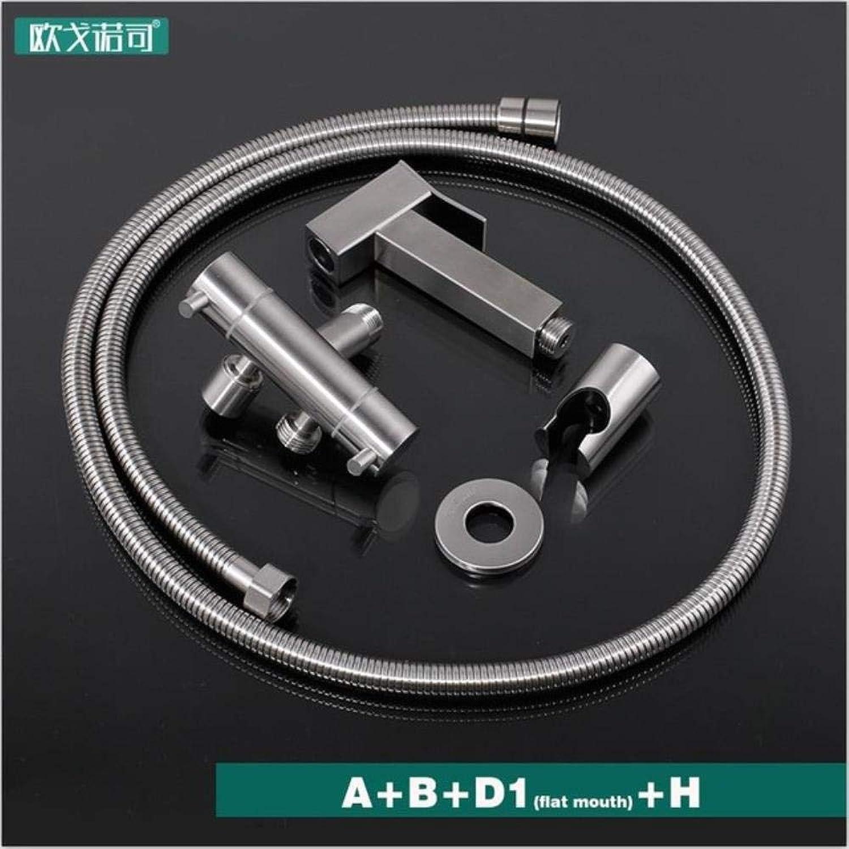 Kai&Guo Double holes toilet bidet shower handheld wall mounted has flexible hose,ABD1H