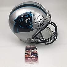 Autographed/Signed Thomas Davis Sr. Carolina Panthers Full Size FS F/S Replica Football Helmet JSA COA