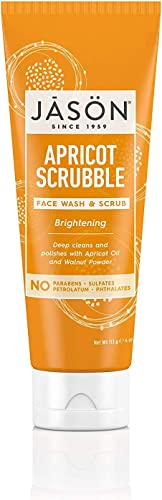 Jason Brightening Apricot Scrubble Wash and Scrub 4 Ounces