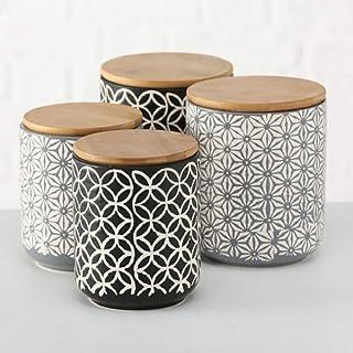 Home Collection Maison Cuisine Rangement Organisation Accessoires Décoration Contenants Ensemble de 4 Boîtes à Fermeture H...