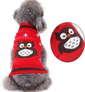 Yu-Xiang Owl Dog Sweater Pet Sweater Christmas Cat Snowflake Sweater Pet Jacket Dog Apparel