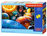 Castorland Planets and Their Moons 180 pcs Puzzle - Rompecabezas (Puzzle rompecabezas, Espacio, Niños, Niño/niña, 7 año(s), Interior) , color/modelo surtido