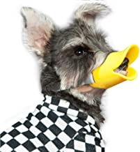 Duck Mouth Shape Anti-Biting Pet Muzzle Masks, Flexible and Durable for Dog Shaped Like a Duck Mouth and Muzzle,Yellow