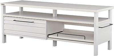 佐藤産業 LAFIKA テレビボード 幅120cm 奥行40cm 高さ45cm 引出 スライド棚 ホワイト 白 アイアン LF45-120L WH