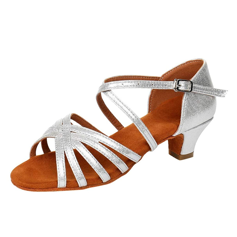 SUNyongsh Toddler's Heels Baby Kids Sandals Girls Princess Dancing Shoes Ballroom Tango Latin Shoes Casual Slippers Mules