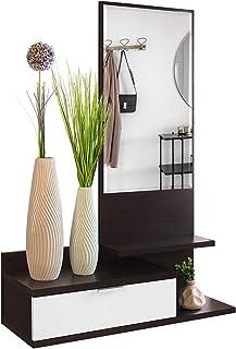 COMIFORT Recibidor Colgante - Mueble de Entrada con Cajón Espejo y 3 Estantes de Estilo Nórdico y Moderno Muy Resistente...