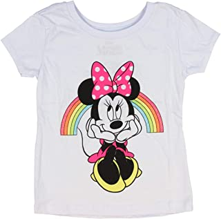 99b0a87f Disney Minnie Mouse Shirt Girls' Minnie Under Glitter Rainbow Licensed  Character T-Shirt