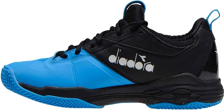 Diadora Hommes Speed bleushield Fly 2 Clay Chaussures De Tennis Chaussure Terre Battue Noir - Bleu 44,5