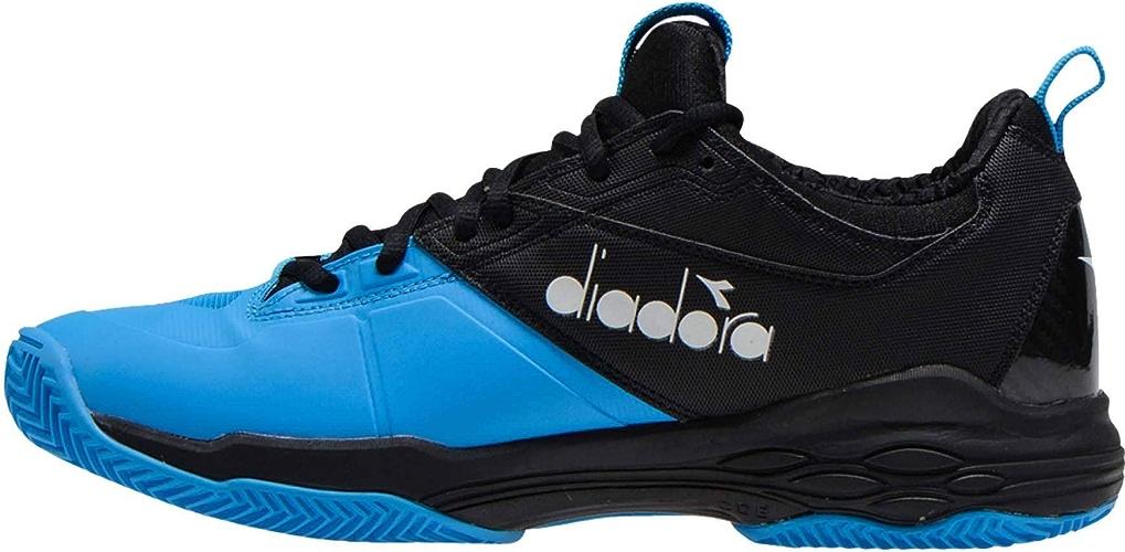 Diadora Hommes Speed bleushield Fly 2 Clay Chaussures De Tennis Chaussure Terre Battue Noir - Bleu 47,5