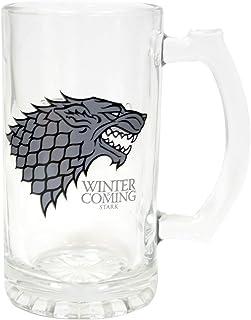 Juego de Tronos SDTSDT27345 - Jarra para Cerveza de Cristal, diseño Stark Winter Is Coming (SD Toys SDTSDT27345) - Jarra Winter is Coming Stark