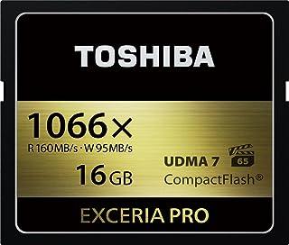 TOSHIBA コンパクトフラッシュカード 16GB EXCERIA PRO 1066倍速 (最大読出速度160MB/s 最大書込速度95MB/s) (国内正規品) CF-EX016V