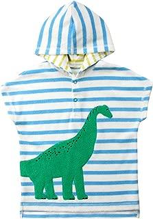 Toddler Dinosaur Hooded Beach Bath Towel, Kids Cover-up Poncho Cape for Bath Beach Swimming Soft Cartoon Bathrobe 1-6T