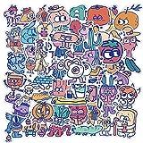 JINER Set Monster Cartoon Image Graffiti Waterproof Skateboard Travel Suitcase Mobile Phone Luggage Stickers Cute Kids Girl 50Pcs