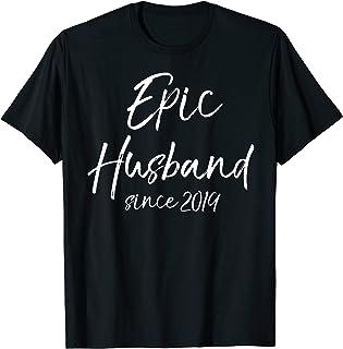 Matching 1st Anniversary Couple Gift Epic Husband Since 2019 T-Shirt