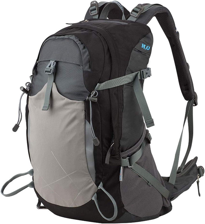 Outdoor Rucksack Bergsteigen Tasche Schulter Mnner und Frauen Camping Reisetasche Sporttasche Reittasche 35l wasserdicht (Farbe   Schwarz)