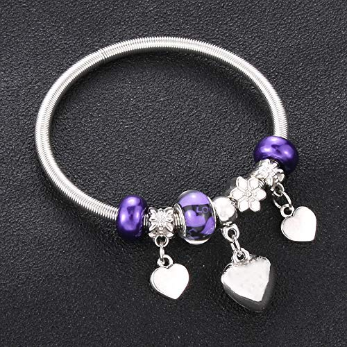 Jewellery Bracelets Bangle For Womens Charm Bracelets Elastic Beading Women Beads Bracelet Bangle Jewelry Gift-33